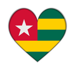 Togo heart flag vector