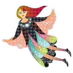 Flying fairy girl