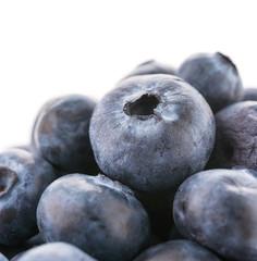 Blueberry basket isolated on white