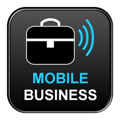 Schwarzer Button: Mobile Business