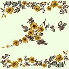 floral pattern, flower decorative elements