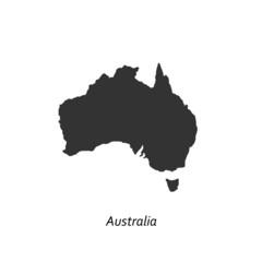 Black map of Australia for your design