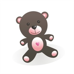 Osito de peluche rosa 3D FB