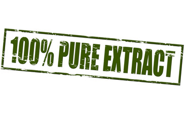 One hundred percent pure extract