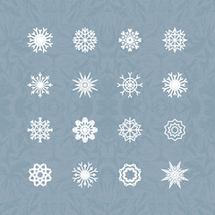 Christmas background with snowflakes. Vector.