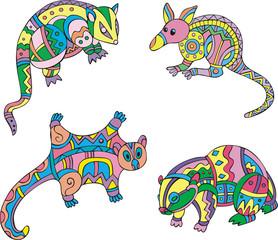 Motley exotic animals