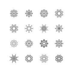 Snowflakes set.  winter and christmas theme. Vector