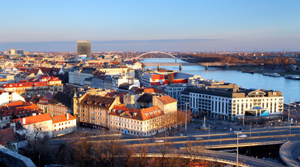 View of Bratislava from castle