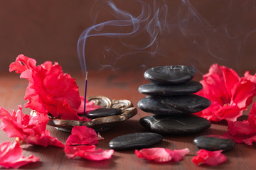 azalea flowers black massage stones incense sticks for aromather