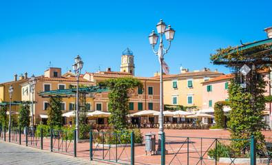 Elba, Porto Azzurro village,Tuscany, Italy