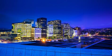 Oslo City Skyline, Norway.