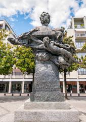 Monument to Carlo Battaglini in the center of Lugano