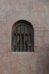 Decorative window in wall