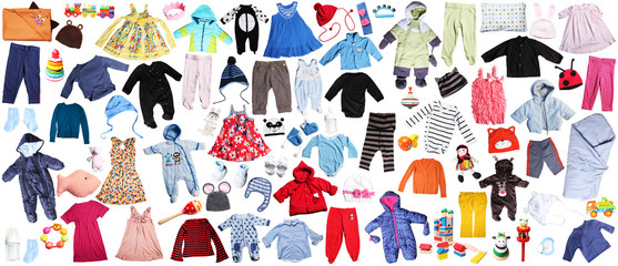 clothes for children background
