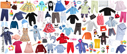 Leinwandbild Motiv clothes for children background