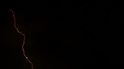 Real and natural lightning and thunder