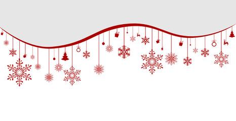 Weihnachten Anhänger Schneekristalle