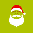 Abstract Santa Green
