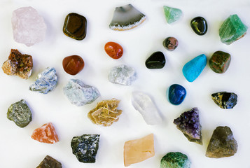 different stone mineral collection