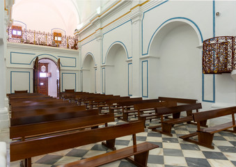 Inside the Chapel at Monastery of  Virgin Del Saliente  Spain