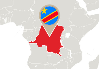 DR Congo on World map