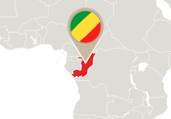 Congo on World map