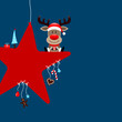 Rudolph Red Star & Symbols Candy Blue