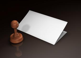 Stempel R - Papier