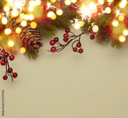 Leinwanddruck Bild Art Christmas greeting card