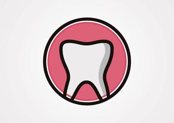 Tooth Icon logo vector