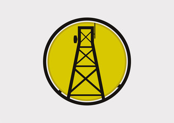 Antenna tower icon logo vector