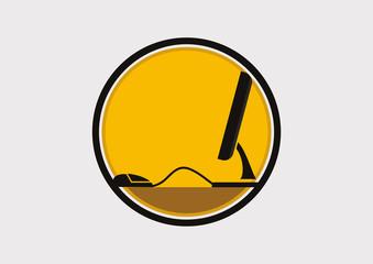 Computer icon logo vector