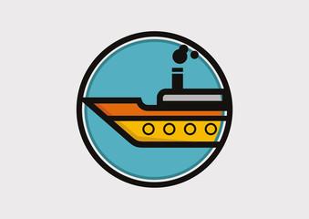 Ship icon logo vector