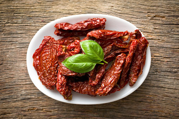 sun dried tomatoes and basil