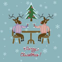 Christmas deer in sweater