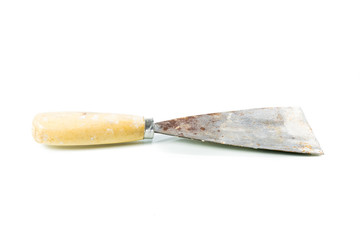 Old trowel isolated