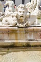 triton, moro fountain, Navona square, Bernini, Rome, Italy
