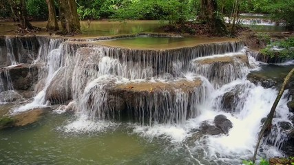 waterfall in Kanchanaburi Province Thailand