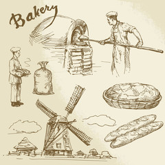 baker, bakery, bread