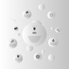 flat design vector. Abstract infographic elements