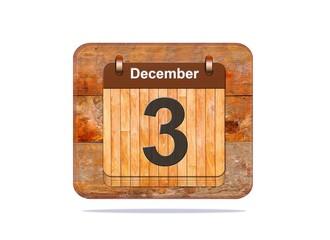 December 3.