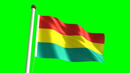 Bolivian flag (seamless & green screen)