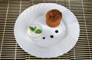 Small cupcakes on a plate