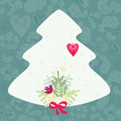 New year, Christmas card