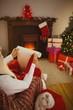 Santa claus writing his list