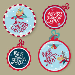 Set Christmas stickers