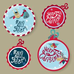 Set Christmas stickers
