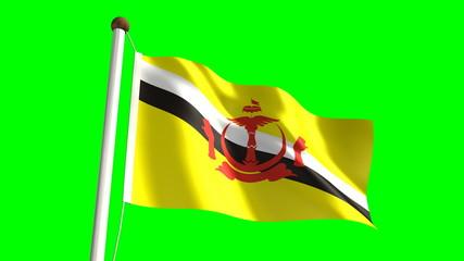 Brunei flag (seamless & green screen)