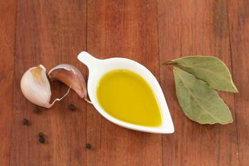 oil in small bowl