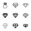 Vector diamond icons set - 73781591